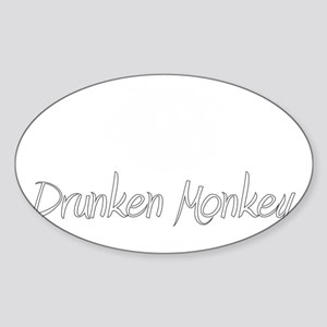 white logo Sticker (Oval)